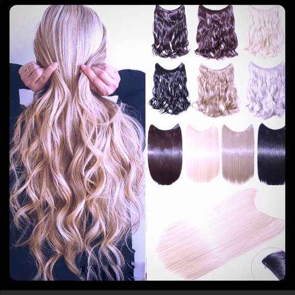 Halo Style Hair Extensions 20 Inches Poshmark